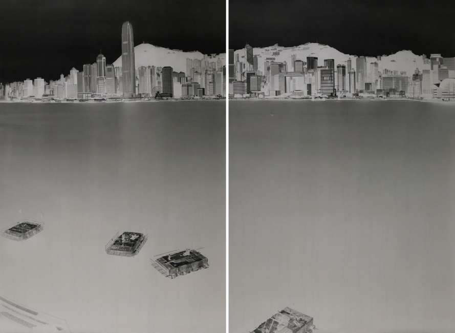 Avenue of Stars, HK 2-3 July 2016 (diptych)