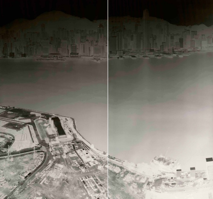 To See Hong Kong Island from Kowloon 18-21 July 2015 (diyptych)