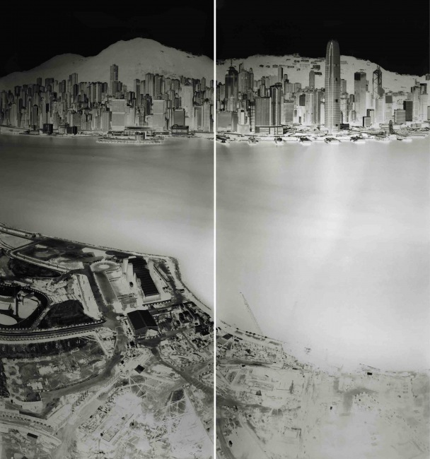 To see Hong Kong Island from Kowloon 19-20 July 2016 (diptych)