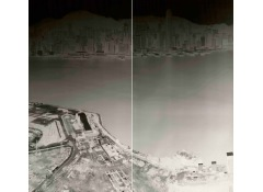 SHI GUORUI - To See Hong Kong Island from Kowloon 18-21 July 2015 (diyptych)
