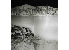 SHI GUORUI - To see Hong Kong Island from Kowloon 19-20 July 2016 (diptych)